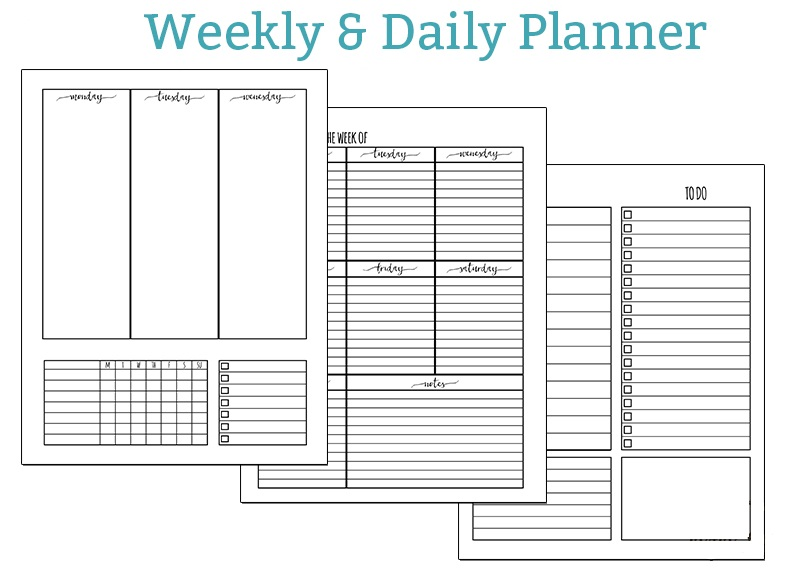 Printable Daily Weekly Planner